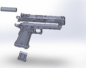 John Wick 3D print model pistol sti combat master
