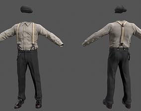 Vintage Male Clothing 3D model