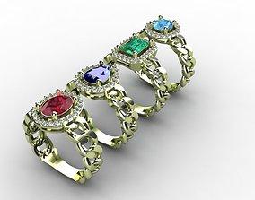 3D print model Chain Fashion Ring