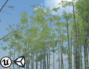 Nature Assets - Bamboo Pack 3D model