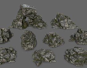 rocks 3D asset VR / AR ready mountain