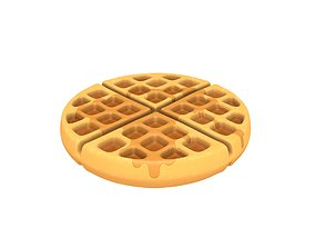 3D model Waffle meal