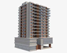 3D model Apartment Building 4