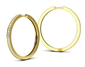Hoop Earrings 30mm size 3dmodel printable hoop-earrings
