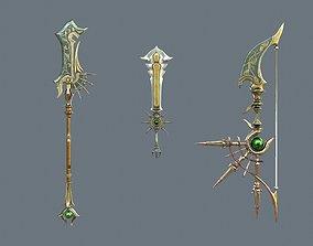 Fantasy weapon 3d model PBR