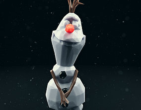 3D model Olaf Low Poly 3
