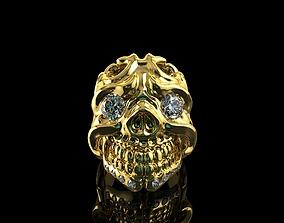 3D print model Skull Diamond Engagement Rings