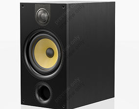 3D model Bowers and Wilkins 685 S2 Black Ash
