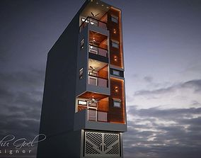 3D ironwork House Exterior