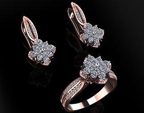 Ring and Earrings 83 3D printable model