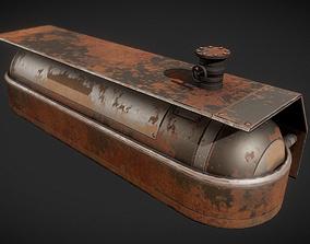 3D asset Fuel Tank Rusty Version