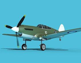 Curtiss P-40B Tomahawk V10 New Zealand 3D model