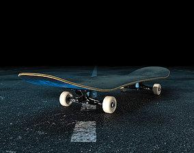 Old skateboard 3D model