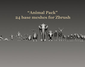 Big Animal Pack for Zbrush 3D