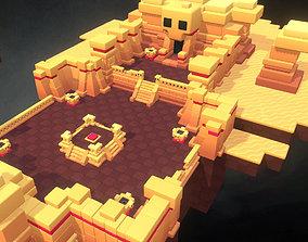 3D asset Dessert Temple - Proto Series