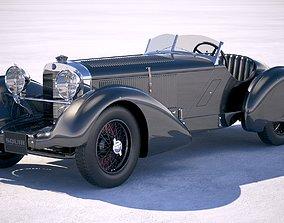 Mercedes 710 SSK Trossi Roadster 1930 bonneville 3D model