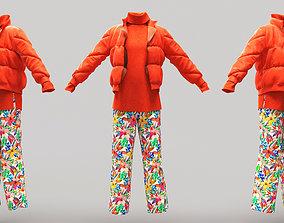 3D model Female Clothing 08