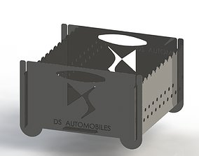 Grill with DS Automobiles logo 3D printable model 3