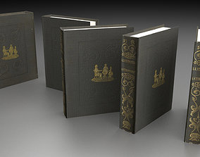 book 3d model low poly VR / AR ready