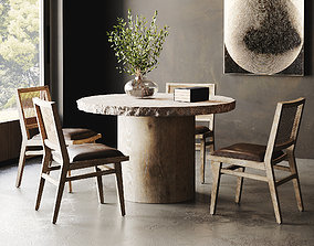 3D Rustic Dining Room Interior ID298