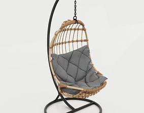 3D model Rattan Swing Chair Ayunan Rotan