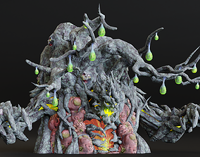 3D asset Ghilliedhu Contaminated character