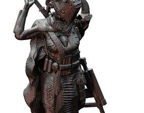 Sci Fi Female Fighter Pirate Raider 3D print model