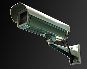 3D model rigged Lowpoly Security Camera CCTV