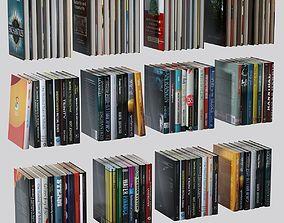 Books set 3D model low-poly