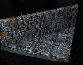 OpenForge Stone Dungeon Diagonal Walls 3D print model
