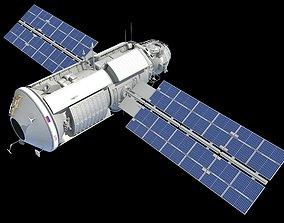 Zarya Functional Cargo Block FGB ISS Module 3D