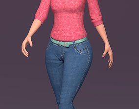 3D model Cartoon Stylized Girl