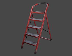 Step Ladder 3D model low-poly