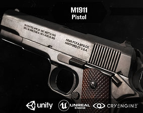 3D asset rigged M1911 pistol
