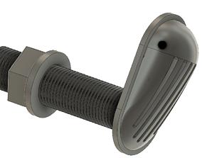 3D print model Engine cooling intake d half inch Marine 2