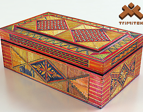 Old Decorative Jewelry Box 3D model low-poly