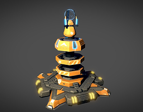 3D asset animated Sci Fi Shield Generator