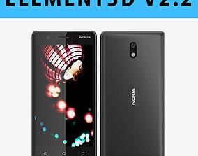 E3D - Nokia 3 Black Model 3D model