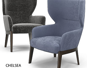 3D model lounge-chair Molteni Chelsea Armchair