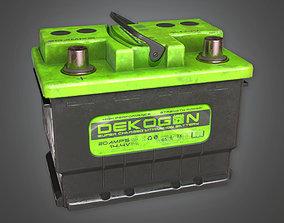 3D asset Old Car Battery TLS - PBR Game Ready