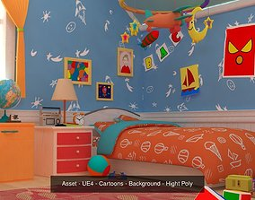 3D Asset - Cartoons - Background 04 - Hight Poly
