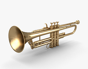 3D Louis Armstrongs Trumpet