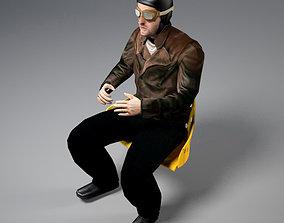 Pilot of World War I 3D model