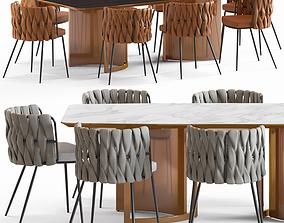 3D LoftDesigne Chair 2675 and Table 6838
