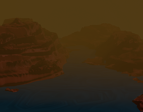 Grand canyon low poly and with volumetric 3D asset