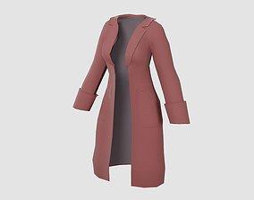 3D model Raincoat for girls