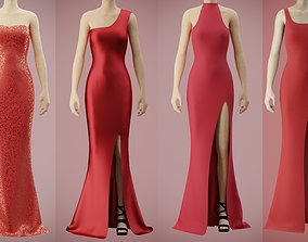 3D model gown RED GOWN COLLECTION