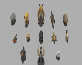 Australian Animals Pack 3D asset