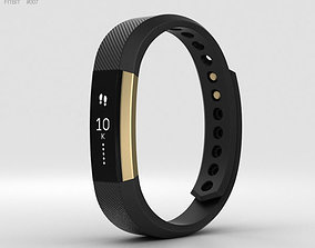 Fitbit Alta Black-Gold 3D