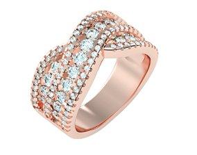 engagement-ring Women Band Ring 3dm stl render detail